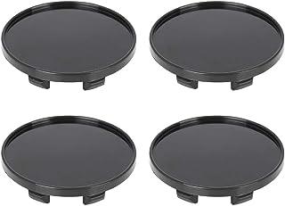 X AUTOHAUX 4 Pcs 60mm 6 Lugs Universal Black Car Wheel Center Caps Hub Cover Caps