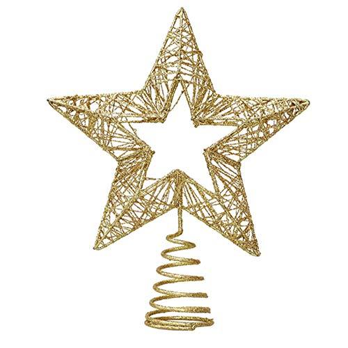 Clevoers Weihnachten Baumspitze Stern, Glitzernden Funkelnden Sterne Baumkrone Weihnachtsbaum Stern Spitze Baumspitze Für Weihnachtsbaum Dekoration Oder Wohnkultur
