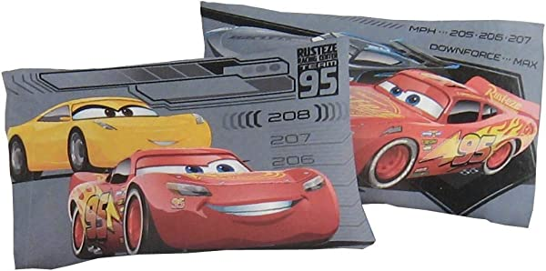Disney Cars 3 Reversible Pillow Case Red And Black