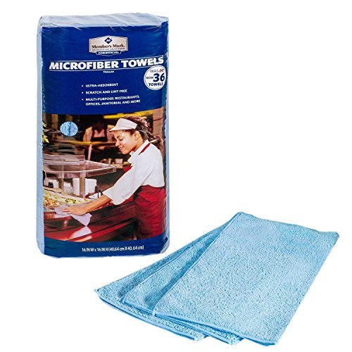 Member's Mark Microfiber Towels - Blue by Storm Accessories
