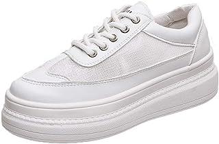 Zapatillas de Plataforma de diseñador Zapatos de Mujer Zapatos Blancos y Verdes Malla de Verano Femenina Calzado Casual Confort Tenis Planos Chaussures Femme