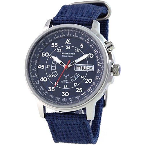 [ラドウェザー] ソーラー電波腕時計 ミリタリーウォッチ 防水腕時計 メンズ