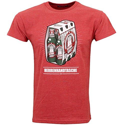 derbe Hamburg Herren T-Shirts, Größe:L, Hamburg :Herrenhandtasche - Red Melange