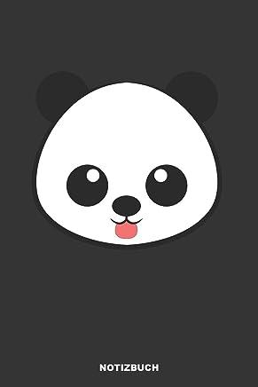 Notizbuch: Liniertes Panda Notizbuch oder Pandabär Notizheft liniert - Buntes Panda Bär Journal für Männer und Frauen mit Linien