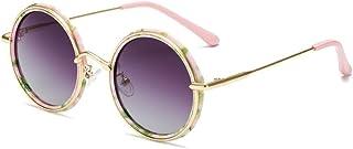 GF-outdoor products - GF-outdoor products Gafas de Sol polarizadas Infantiles Gafas de Sol Redondas UV for niños Gafas de Sol polarizadas (Color : Gray)