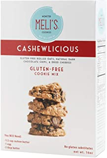 Meli's Monster Cookies Cashewlicious; Naturally Gluten-free; High Protein; High Fiber; Dry Cookie Mix; Certified Gluten-free Rolled Oats; Healthy; Natural