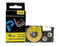 カシオ ネームランド用 互換 テープカートリッジ 9mm XR-9YW 黄地黒文字
