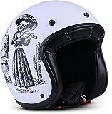 Rebel R9 - Casco da moto con scooter, in fibra di vetro ECE