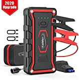 YABER Car Jump Starter, Upgrade Portable Jump Starter 1600A Peak 20000mAh (All Gas / 7.0 L Diesel) 12V Auto Car Jumper Power Pack with Smart Jump Cables Built-in LED Light Lithium Battery
