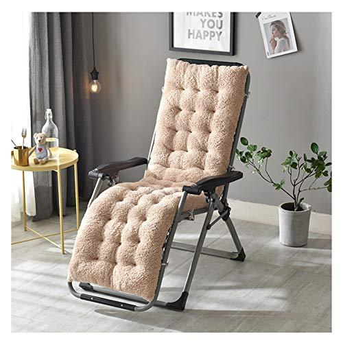 GELing Auflage für Deckchair Flair Liege-Stuhl Polster-Auflage mit Schaumflockenfüllung ,Hellbraun,130X50X12cm