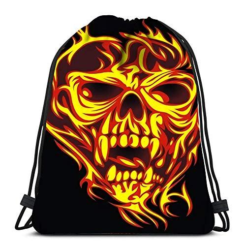 GeorgoaKunk Kordelzug Rucksack Taschen Tattoo Studio Logo Vorlagen auf dunklen coolen Retro-Stil