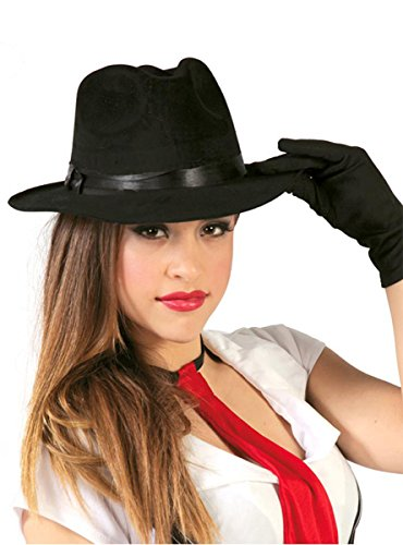 Guirca Fiestas GUI13567 Chapeau de Gangster en tissu noir