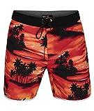 Hurley M Phantom Waikiki 18' Bañador, Hombre, Bright Crimson, 36