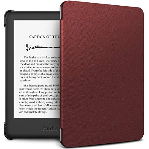 INFILAND Estuche Kindle 2019 (10ª generación - Modelo 2019) - Función de Despertador/Reposo automático - Estuche de Cuero Ultra Delgado y liviano para Amazon Kindle 2019 - Vino Tinto