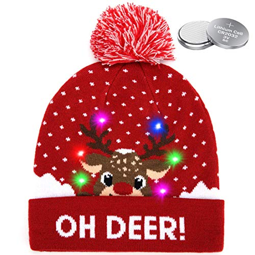 W-Plus Ugly Sweater Xmas Christmas Hat Beanies