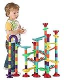 Atoymut Marble Run Set Kids STEM Toys Construction Building Blocks for 3 4 5 6 7 8 9 Year Old Boys Girls (113pics)