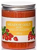 Meadow Gold Cremosa Puro Crudo Miel con Fresas 450g