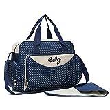 SIERRA - Práctico bolso mamá con cambiador para el cambio de pañales, la bolsa es de tela Oxford impermeable y fácilmente lavable, gran capacidad y organización en diferentes compartimentos.