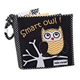 Owl Soft Baby Cloth Book,Crinkle Black and White Baby Books Toys Baby Travel Essential for Babies Newborn Toys Infant Toddler Baby Teething Toys Teether,Peek A Boo Forest Books Baby Girl Boy Gifts