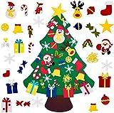 Albero di Natale fai da te in feltro con 30 ornamenti da 1 m di famiglia 3D finto albero di Natale per i bambini più piccoli casa porta finestra parete decorazione di Natale regali di Natale