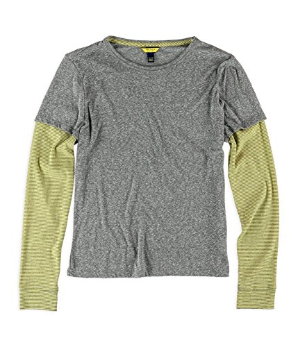 AEROPOSTALE - Camiseta de Manga Corta para Mujer - Gris - X-Small