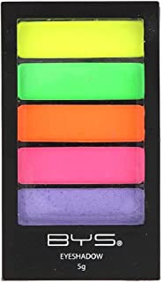 BYS Eyeshadow Palette with Applicator, Neons, 1 Count (Pack of 1)