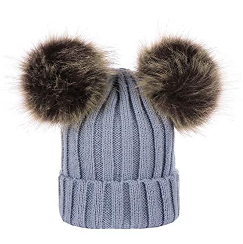 Tangbasi 1/2 Stks Baby Hoge Kwaliteit Warm Hoed Sjaal Kids Baby Winter Leuke Faux Bont Pompom Warm Sjaal Nek Warmer Gebreide Hoed