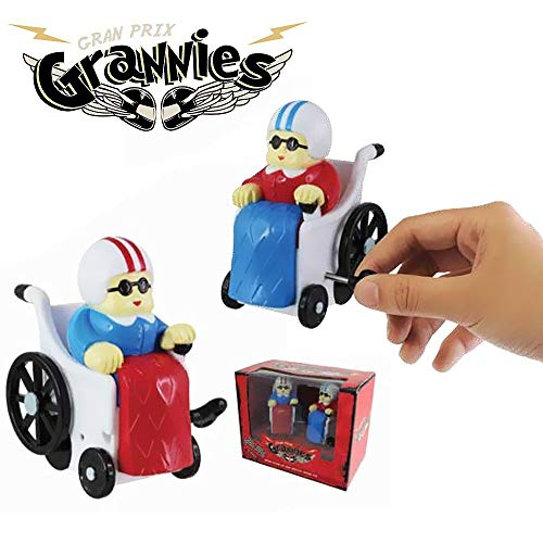 Aufziehfiguren 2er Set RACING GRANNIES