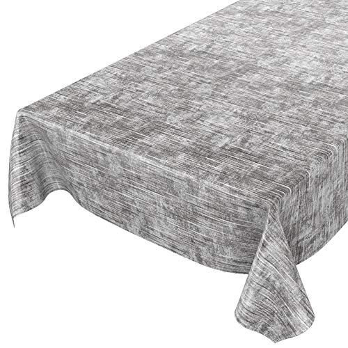 Anro - Mantel de hule lavable, hule, 95% PVC, 5% poliéster., Urban Loft Modern gris, 200 x 140cm Schnittkante