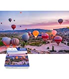 Jigsaw Puzzle 1000 Pieces for Adult Kids Goreme Turkey Travel Hot Air Balloon Beautiful Landscape Theme Large Puzzles Brain Mind iq Train Funny Fantasy Art Family Games