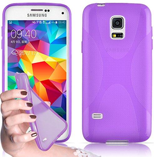 Cadorabo Funda para Samsung Galaxy S5 / S5 Neo en ORQUÍDEA Violeta - Cubierta Proteccíon de Silicona TPU Delgada e Flexible con Antichoque - Gel Case Cover Carcasa Ligera
