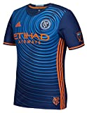 adidas New York City FC MLS Performance Blue Authentic Game Jersey Maillot
