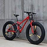 LCLLXB Bicicleta De MontañA, Bicicleta EléCtrica Fat Tire, Bicicleta 26 Pulgadas, Velocidad 21/24/27, BateríA, Bicicleta Auxiliar para Adultos, Estudiantes De Ciclismo para Hombres Y Mujeres,21-Speed