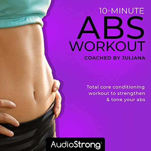 10-Minute Abs Workout audiobook cover art