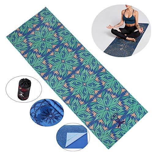 Fansu Toalla de Yoga Antideslizante, Esterilla de Yoga para Viajes Plegable...