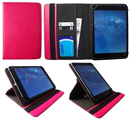 One Tablet Xcellent 10 Windows Rosa Universal 360 Grad Drehung PU Leder Tasche Schutzhülle Case von Sweet Tech
