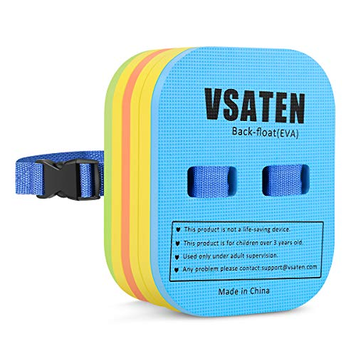 VSATEN Back Float, Swim Belt Bubble Adjustable 3 Layers Thicken Split Foam Learning Safety Training Board Pool Floaties for Kids Toddlers Swimming Beginners Floats Swim Lessons Equipment (10lb-60lb)