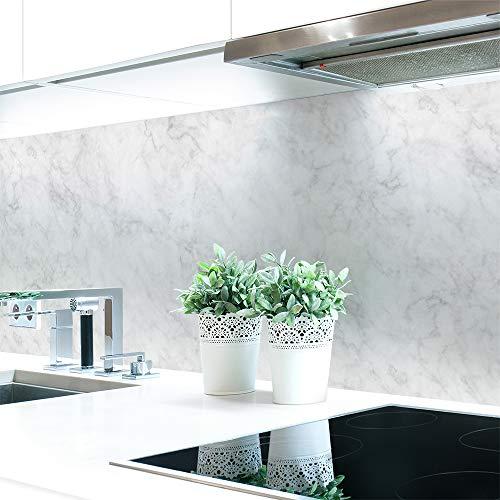 Küchenrückwand Marmor Weiß Premium Hart-PVC 0,4 mm selbstklebend 400x60cm