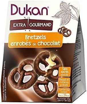 Dukan Bretzels au Son d'Avoine Enrobés de Chocolat 100 g - Lot de 6