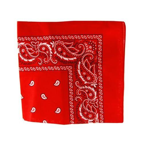 c4450242379d Amazon.com  Red Paisley Bandanna  Clothing