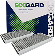 ECOGARD XC26078C Premium Cabin Air Filter with Activated Carbon Odor Eliminator Fits BMW 530i 2004-2007, 528i 2008-2010, 525i 2004-2007, 650i 2006-2010, 535i 2008-2010, 530xi 2006-2007