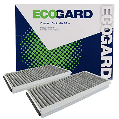 ECOGARD XC26078C Premium Cabin Air Filter with Activated Carbon Odor Eliminator Fits BMW 530i 2004-2007, 525i 2004-2007, 528i 2008-2010, 535i 2008-2010, 650i 2006-2010, 530xi 2006-2007
