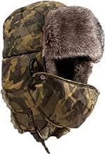 TWGONE Camouflage Winter Thicken Hat Wind Mask Cold-Proof Rimq Outdoor Unisex Cap