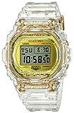 Casio G-Shock DW-5735E-7JR Glacier Gold 35º Aniversario - Reloj de esqueleto transparente resistente a los golpes (productos originales de Japón)