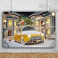 Qinunipoto 背景布 Merry Christmas クリスマス 冬の雪の背景 クリスマスプレゼント 通りの背景 雪が舞う 撮影布 商品撮影 人物撮影 自宅 写真館 写真スタジオ 写真 カスタマイズ可能な背景 イースターの背景