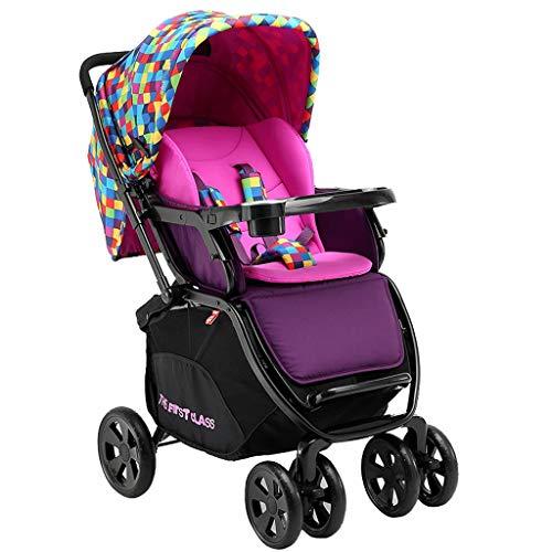 CAIM Babywagen, hoogland-kinderwagen met vier wielen, grote slaapmand, schokdemper voor kinderen, die de lichte kinderwagen inklapt.