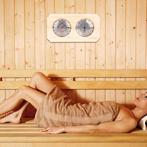 Omabeta Termohigrómetro Claro y preciso 2 en 1 Resistente a Altas temperaturas para Sala de Sudor