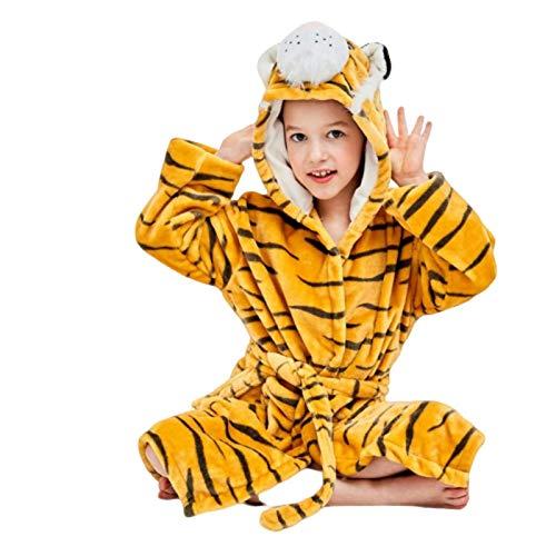 N-B Pijamas Niños Y Niñas Pijamas Niños Franela Albornoz Pijamas Animal con Capucha Toalla de dibujos animados Albornoz Invierno Niños Pijamas Conjunto Super Suave Toallas de Baño