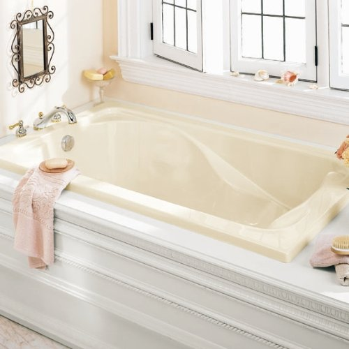 American Standard 2774.002.020 Cadet 6-Feet by 42-Inch Bath Tub with Form Fitted Back Rest, White