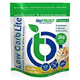 BioTRUST Low Carb Lite, 20 Grams of Grass-Fed Whey Protein Isolate, 100 Calories, ProHydrolase Digestive Enzymes, Non-GMO, Free from Soy and Gluten, rBGH-Free (20 Servings) (Vanilla Cucpake)